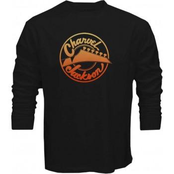 New T Shirt Charvel Jackson Guitars Logo Mens Long Sleeve Tee Size S
